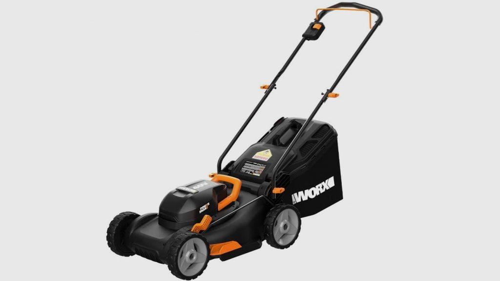 Worx WG743 40V PowerShare Intellicut Battery Powered Lawn Mower
